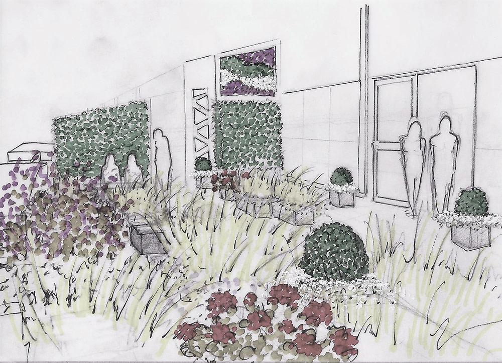 Jardín espacio comunes
