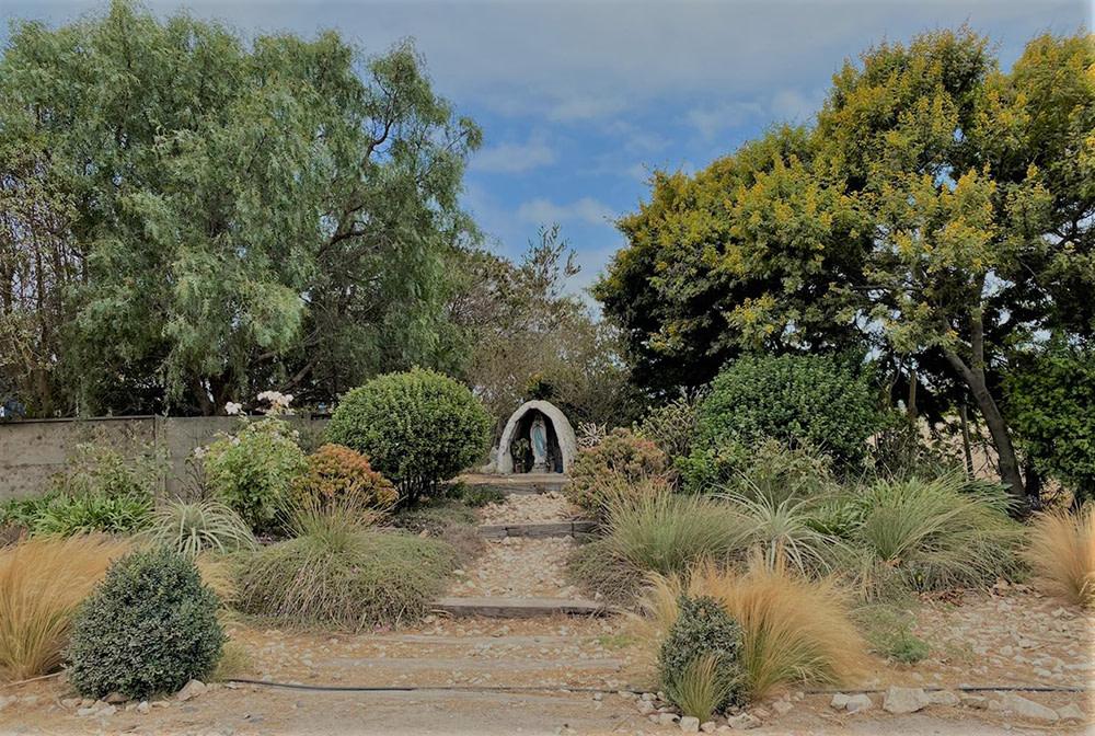 Parque vista jardin gruta